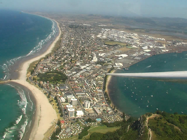 The suburban area of Mount Maunganui